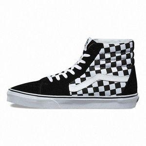 Vans Unisex SK8-Hi Checkerboard Black/True White